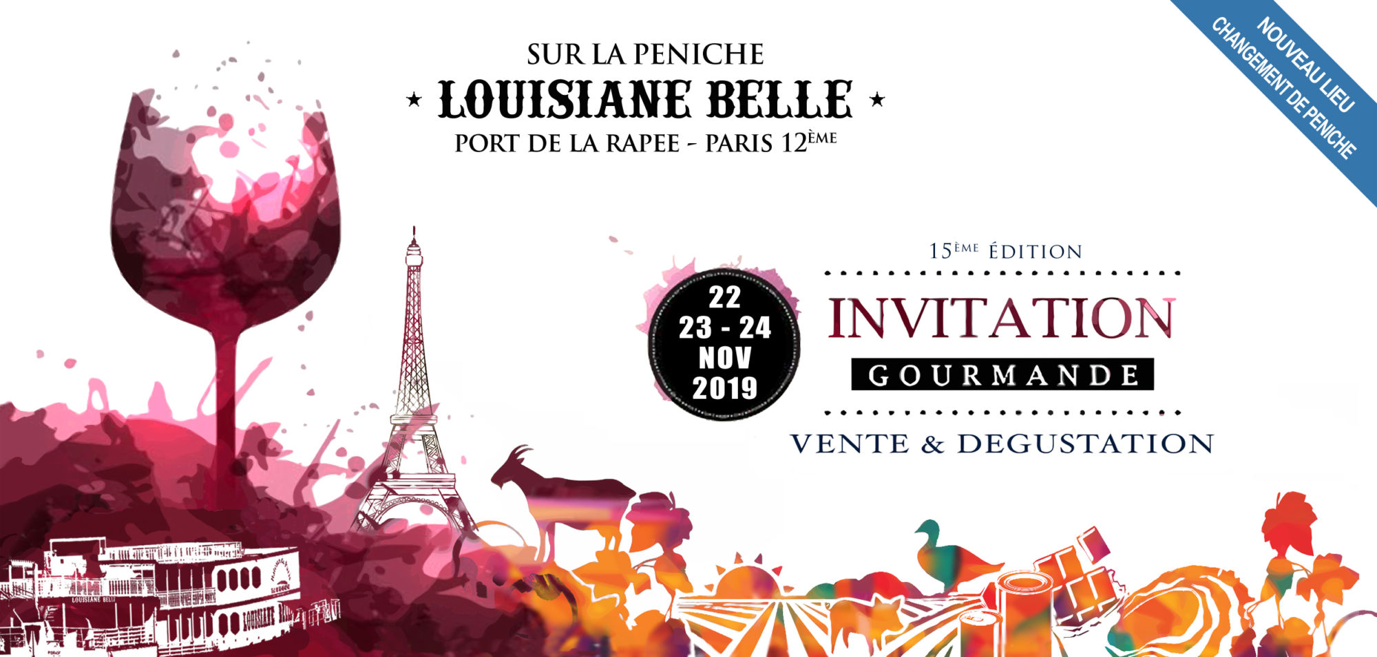 Invitation au salon gourmand sur la Péniche Louisiane Belle à Paris